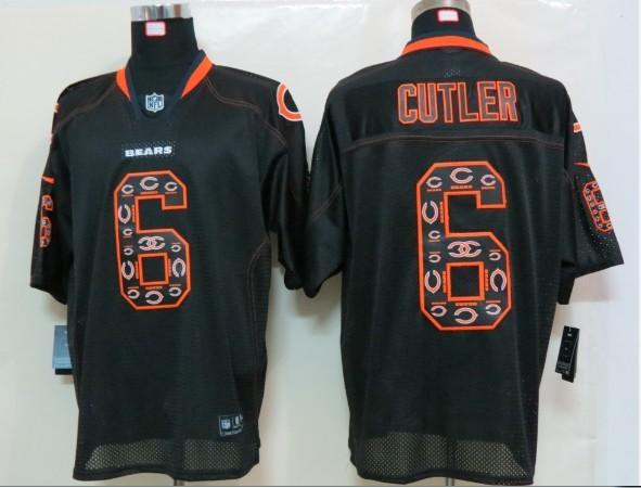 Chicago Bears 6 Cutler Nike Lights Out Black1 Elite Jerseys
