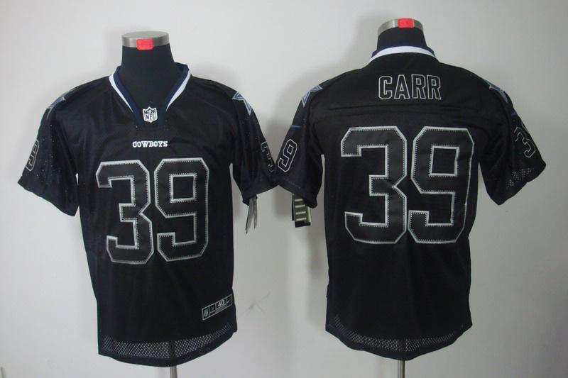 Dallas cowboys 39 Carr Nike Lights Out Black Elite Jerseys