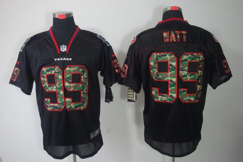 Houston Texans 99 Watt Nike Camo Fashion Elite Jerseys