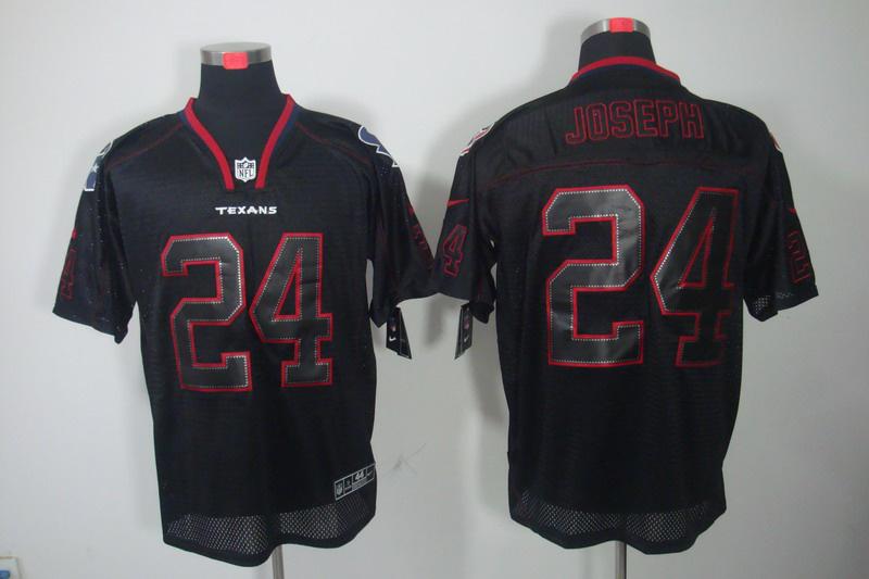 Houston Texans 24 Joseph Nike Lights Out Black1 Elite Jerseys