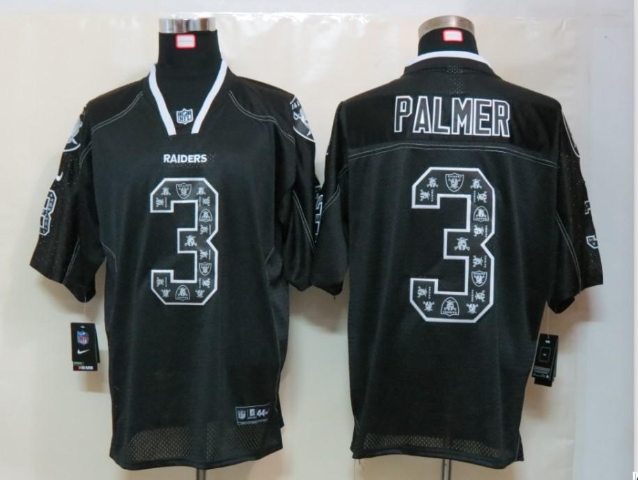 Okaland Raiders 3 Palmer Nike Lights Out Black Elite Jerseys