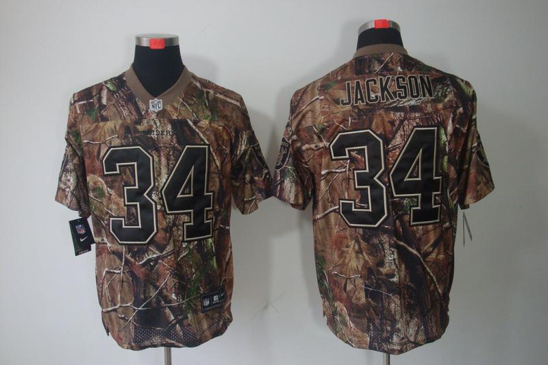 Okaland Raiders 34 Jackson Camo Elite Nike jerseys