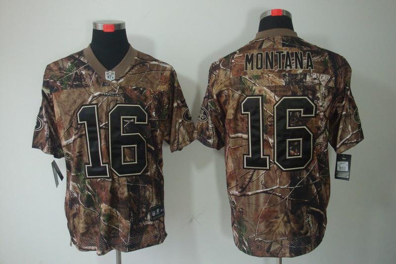 San Francisco 49ers 16 Montana Camo Elite Nike jerseys
