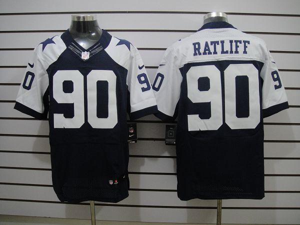 Dallas Cowboys 90 Ratliff Blue Thanksgiving Elite Nike jerseys
