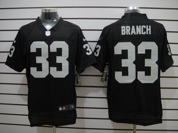 Oakland Raiders 33 Branch Black Elite Nike jerseys