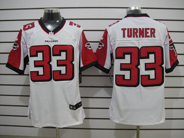 Atlanta Falcons 33 Turner White Elite Nike Jerseys
