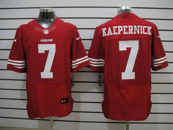 San Francisco 49ers 7 KAEPERNICK Red Elite Nike Jerseys