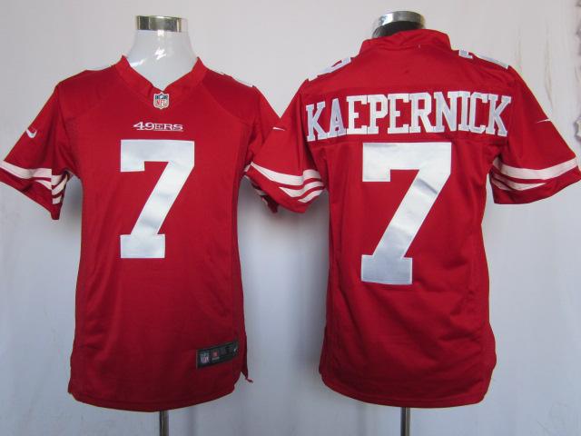 San Francisco 49ers 7 KAEPERNICK Red Game Nike Jerseys