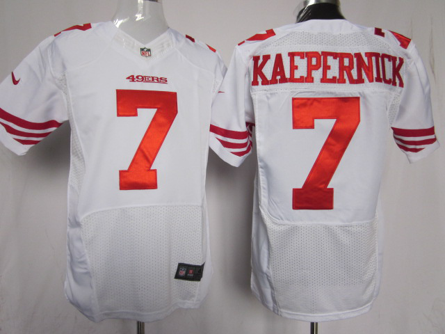 San Francisco 49ers 7 KAEPERNICK white Elite Nike Jerseys