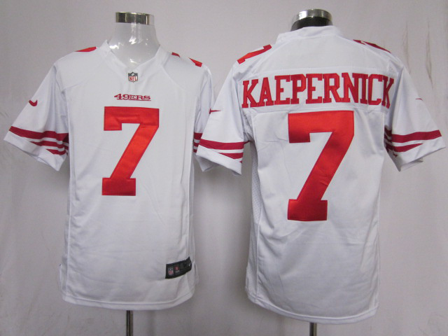 San Francisco 49ers 7 KAEPERNICK white Game Nike Jerseys
