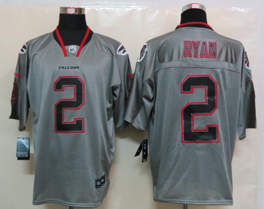 Atlanta Falcons 2 Ryan Nike Lights Out Grey Elite Jerseys