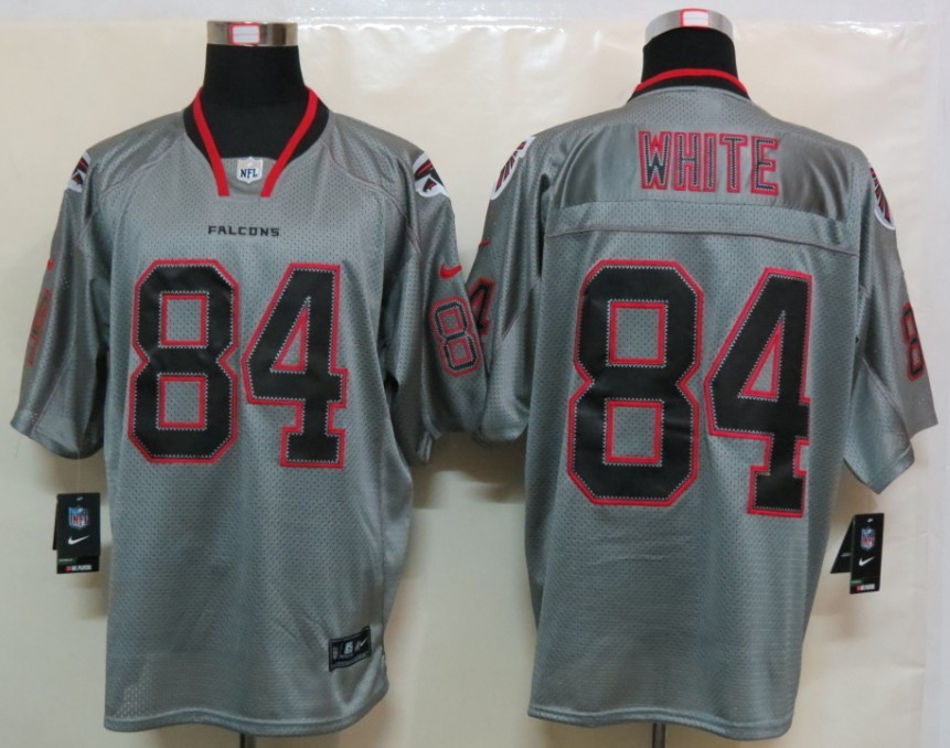 Atlanta Falcons 84 White Nike Lights Out Grey Elite Jerseys