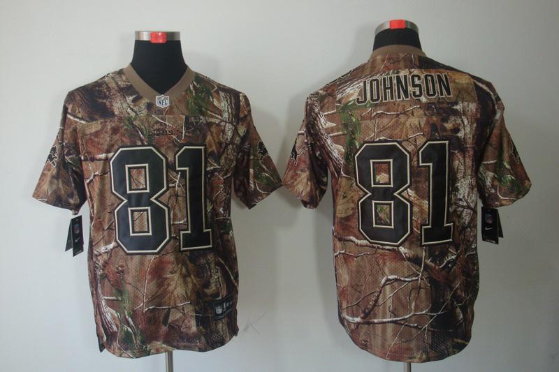 Detroit Lions 81 Johnson Camo Elite Nike jerseys
