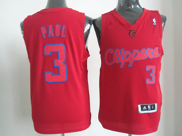Clippers 3 Paul red christmas jerseys