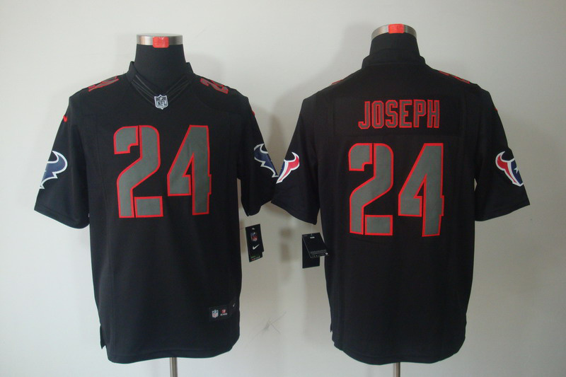 Houston Texans 24 Joseph Impact Nike Limited Black Jersey