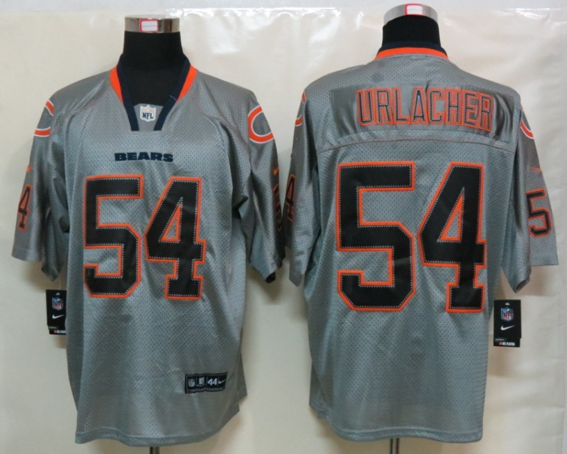 Chicago Bears 54 Urlacher Nike Lights Out Grey Elite Jerseys