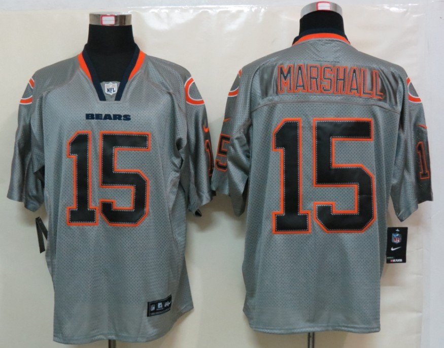 Chicago Bears 15 Marshall Nike Lights Out Grey Elite Jerseys