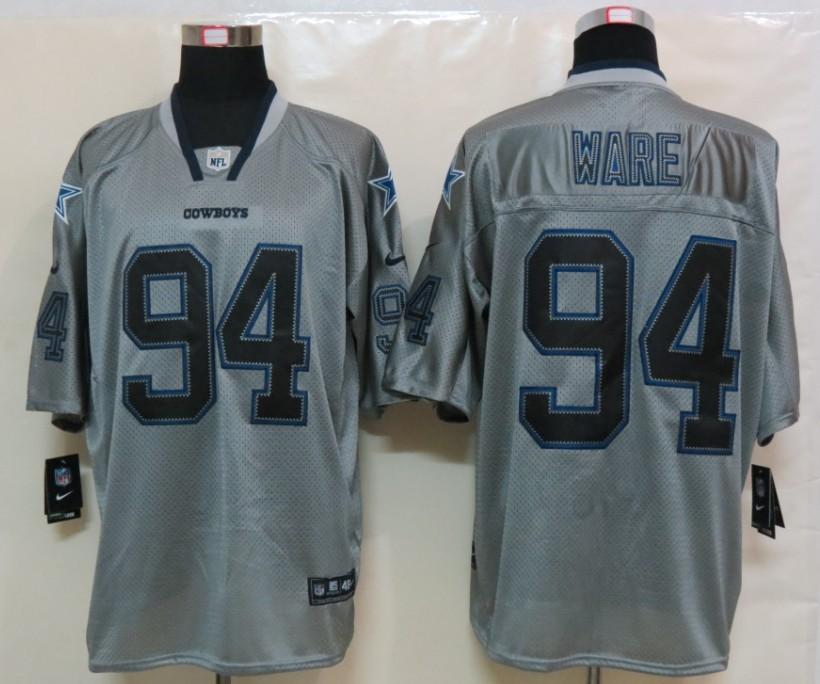 Dallas cowboys 94 Ware Nike Lights Out Grey Elite Jerseys