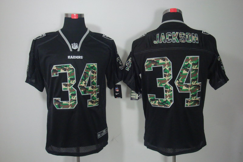 Okaland Raiders 34 Jackson Nike Camo Fashion Elite Jerseys