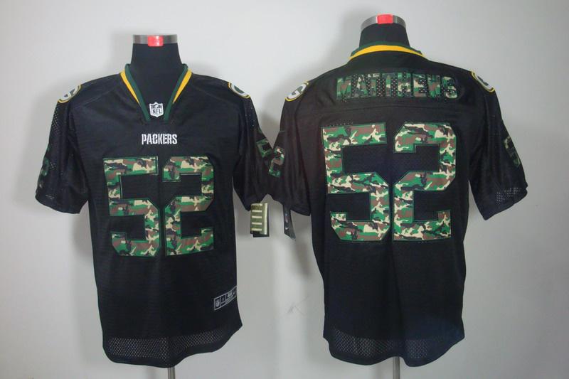 Green Bay Packers 52 Matthews Nike Camo Fashion Elite Jerseys