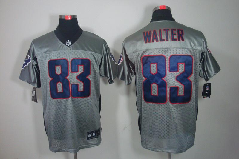 Houston Texans 83 Walter Nike Gray shadow jerseys