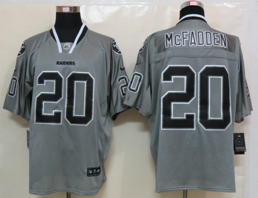 Okaland Raiders 20 Mcfadden Nike Lights Out Grey Elite Jerseys