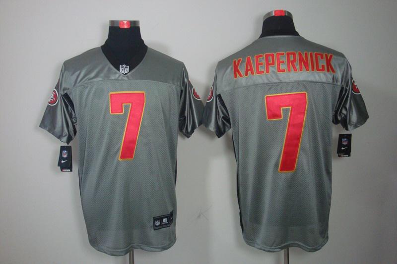 San Francisco 49ers 7 Kaepernick Nike Gray shadow jerseys