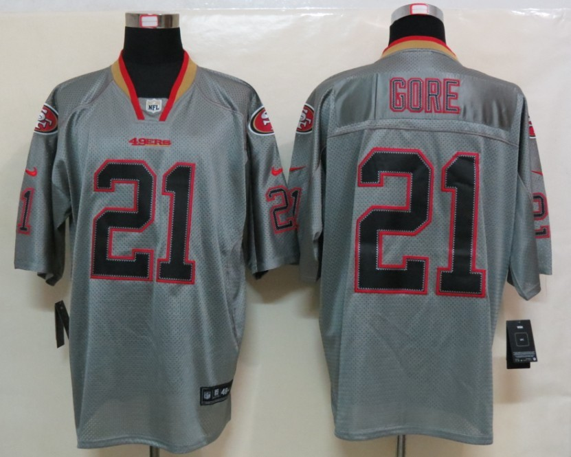 San Francisco 49ers 21 Gore Nike Lights Out Grey Elite Jersey