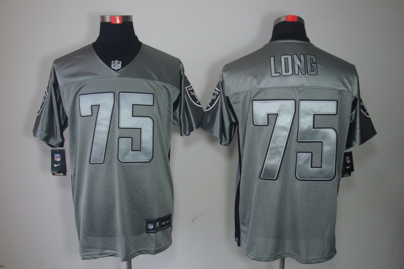 Okaland Raiders 75 Long Nike Gray shadow jerseys
