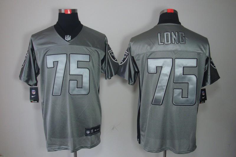 Okaland Raiders 75 Long Nike Gray shadow jerseys