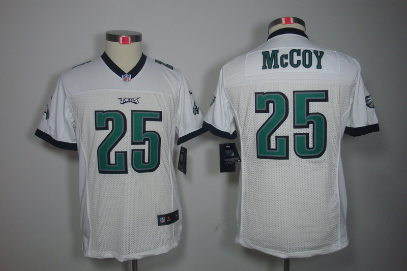 Philadelphia Eagles 25 McCoy White youth Nike Limited Jersey