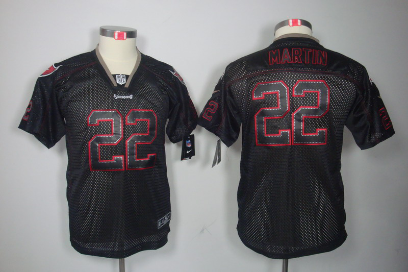Tampa Bay Buccaneers 22 Martin Nike youth Lights Out Black Elite Jerseys