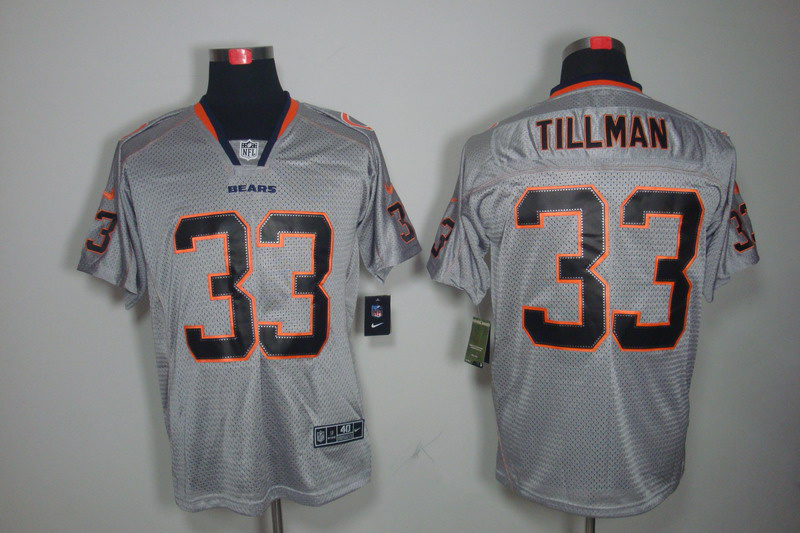 Chicago Bears 33 Tillman Nike Lights Out Grey Elite Jerseys