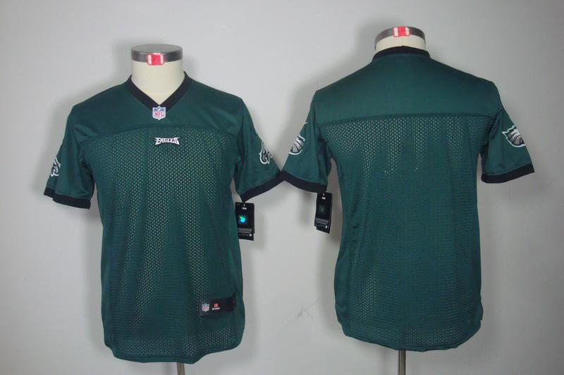 Philadelphia Eagles blank green youth Nike Limited Jersey