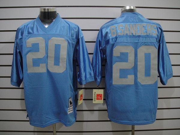 Detroit Lions 20 B.Sanders Lt.blue Nike Elite Jerseys