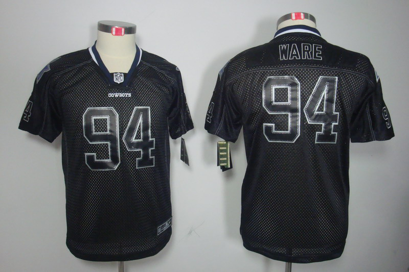 Dallas cowboys 94 Ware youth Nike Lights Out Black Elite Jersey
