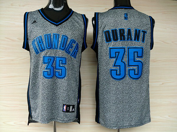 Adidas NBA Oklahoma City Thunder 35 Kevin Durant Static Fashion Swingman Jersey