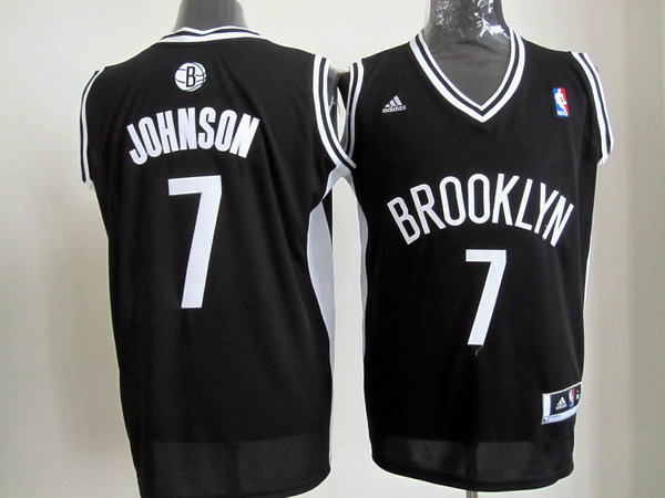 Brooklyn Nets 7 Joe Johnson Black Revolution 30 Swingman NBA Jerseys