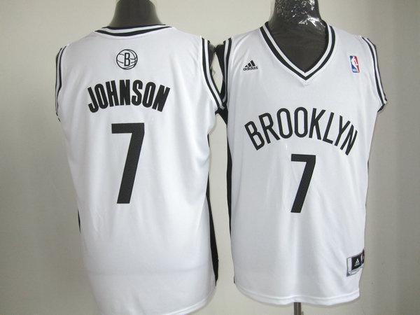 Brooklyn Nets 7 Joe Johnson White Revolution 30 Swingman NBA Jerseys