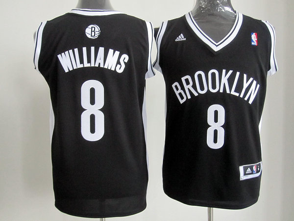Brooklyn Nets 8 Deron Williams Black White Revolution 30 Swingman NBA