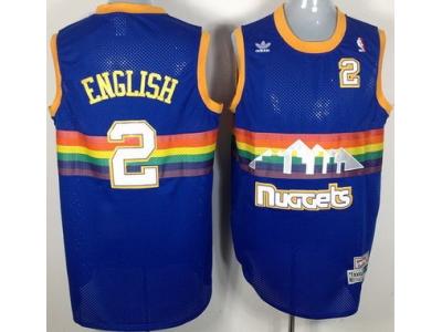 Denver Nuggets 2 Alex English Soul Swingman Stitched Blue Rainbow