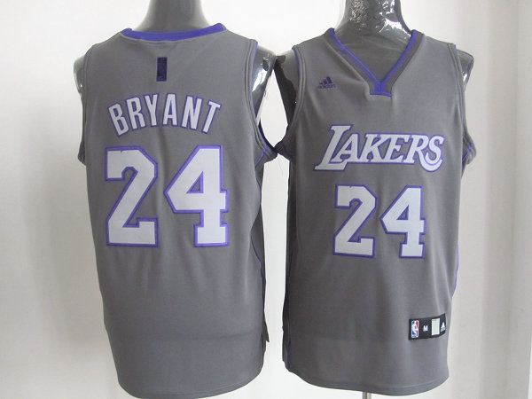 Los Angeles Lakers 24 Kobe Bryant Grey Revolution 30 Swingman NBA Jerseys