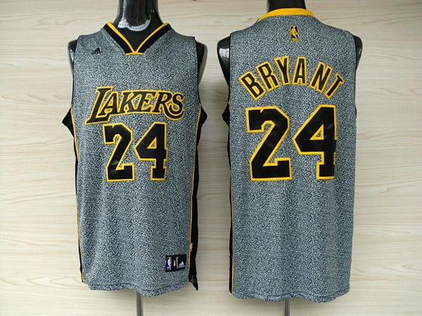 NBA jerseys los angeles lakers 24 kobe bryant grey static fashion swingman jerseys