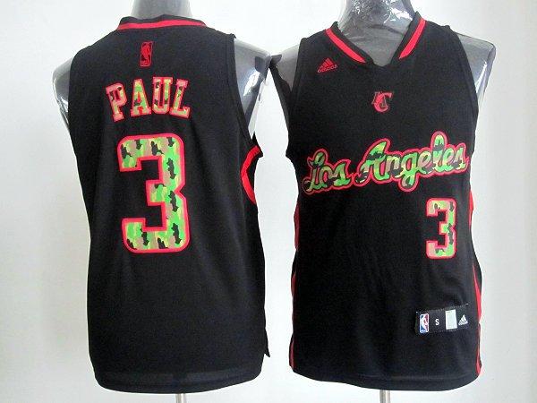 NBA Los Angeles Clippers 3 Paul Black Camo Jersey