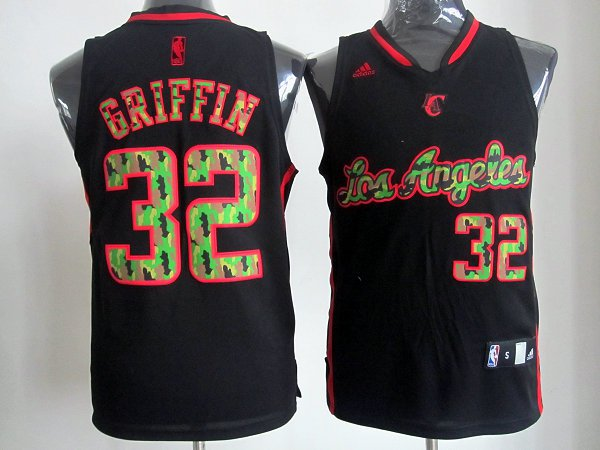 NBA Los Angeles Clippers 32 Griffin Black Camo Jersey