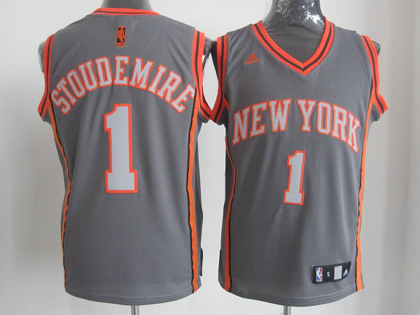 NBA New York Knicks 1 Stoudemire Grey Jersey