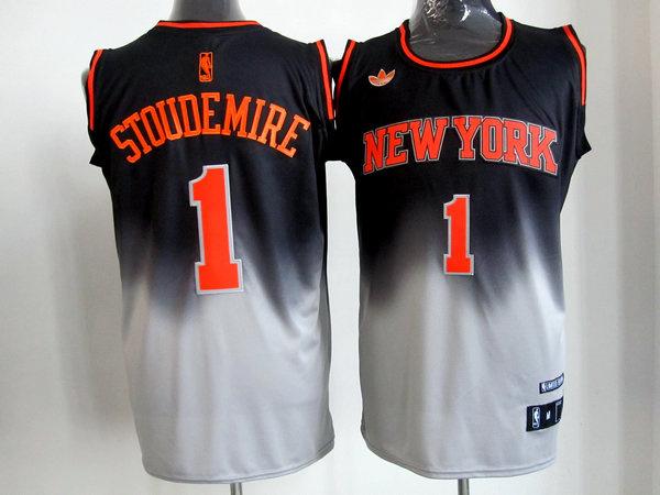 NBA New York Knicks #1 stoudemire black-gery jerseys