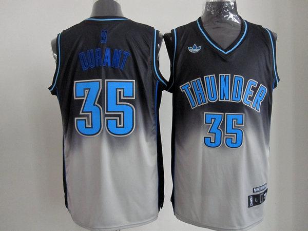 NBA Oklahoma City Thunder #35 Durant black-Gery Jerseys