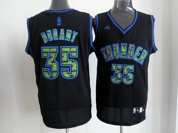 oklahoma city thunder 35 Durant Black Camo Fashion Stitched jerseys