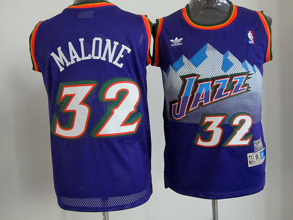 Utah Jazz 32 Karl Malone Purple Mitchell and Ness Swingman NBA Jerseys